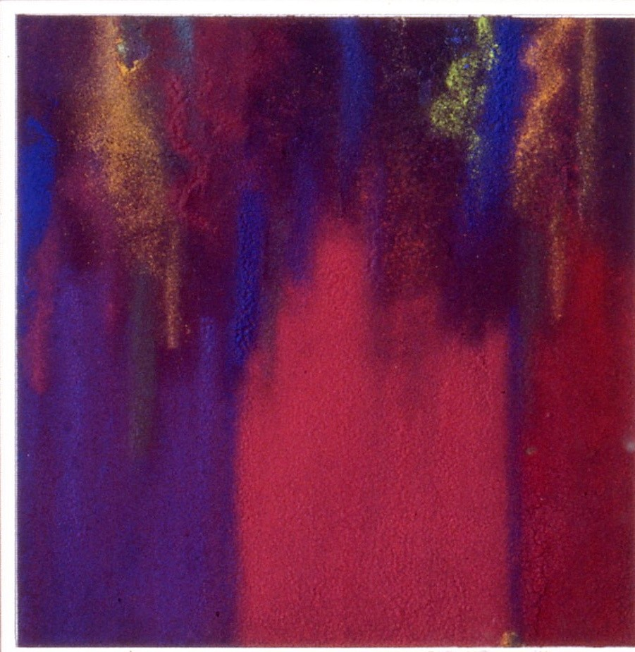 Natvar Bhavsar ,   SINDURA III  ,  1996     Dry pigment and acrylic on Paper ,  20 x 16 in. (50.8 x 40.6 cm)     20
