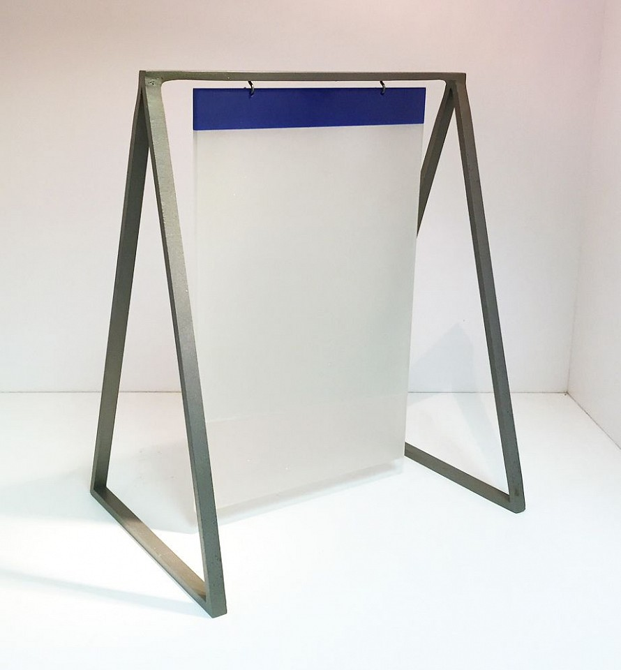 Stanley Boxer (Estate) ,   Amomentsdelicacy  ,  1995     steel and plexi ,  13 1/2 x 11 x 8 in. (34.3 x 27.9 x 20.3 cm)     BOXE0172