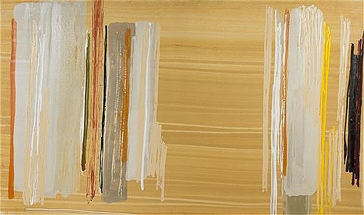 Larry Zox ,   Untitled  ,  1981     Oil on Canvas ,  48 x 96 in. (121.9 x 243.8 cm)     ZOX0002
