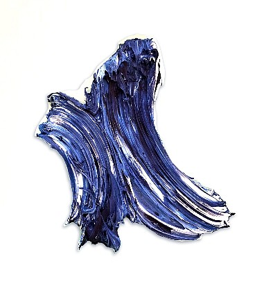 Donald Martiny ,   Study for Yahuna  ,  2018     polymer and pigment on aluminum ,  17 x 13 in.     MART00073
