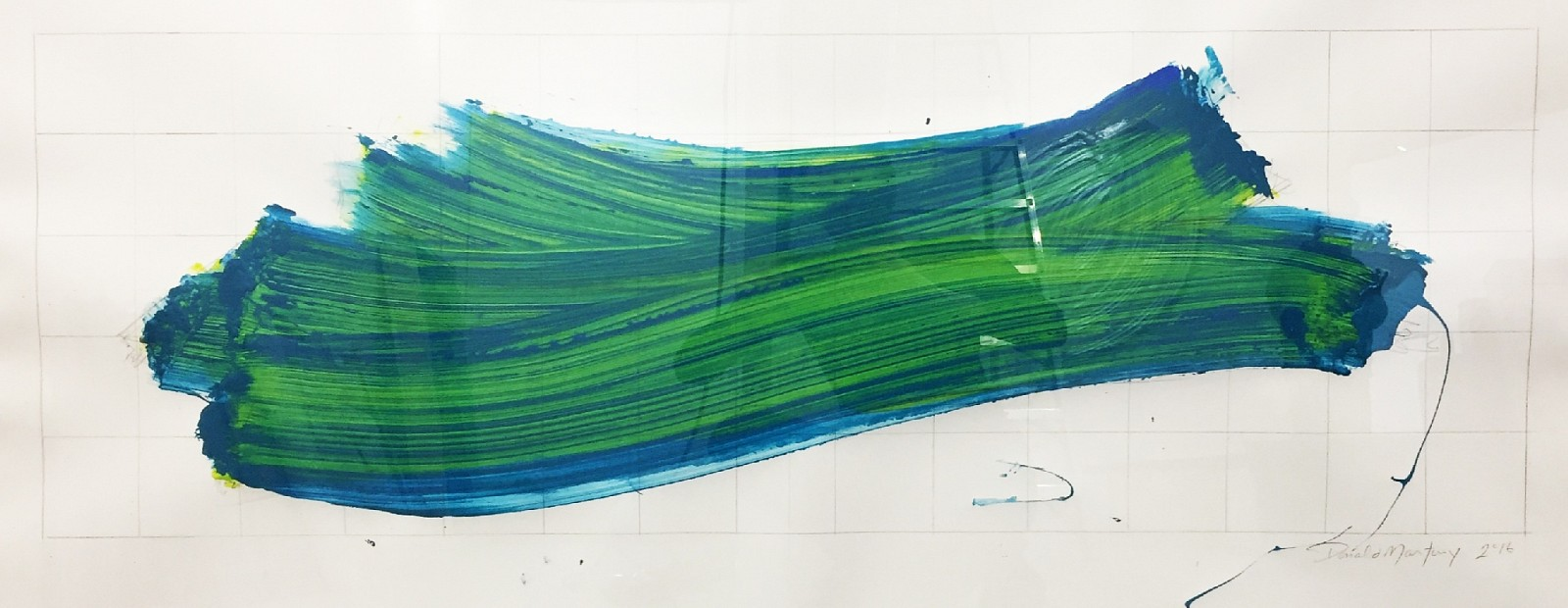 Donald Martiny ,   Untitled  ,  2016     pigment on paper ,  31 1/2 x 59 1/4 in. (80 x 150.5 cm)     blue green     MART00097