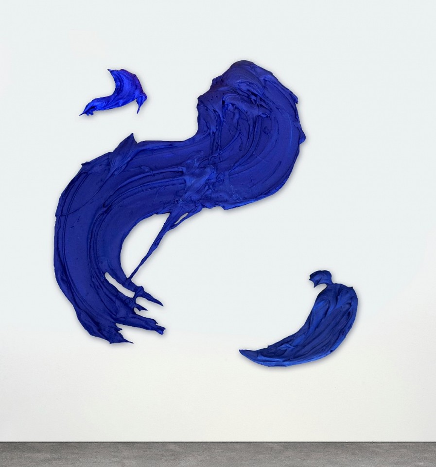 Donald Martiny ,   Milyan  ,  2018     polymer and pigment on aluminum ,  62 x 31 in. central element, 25 x 14 in. element No. 2, 12 x 17 in. element No. 3     MART00107