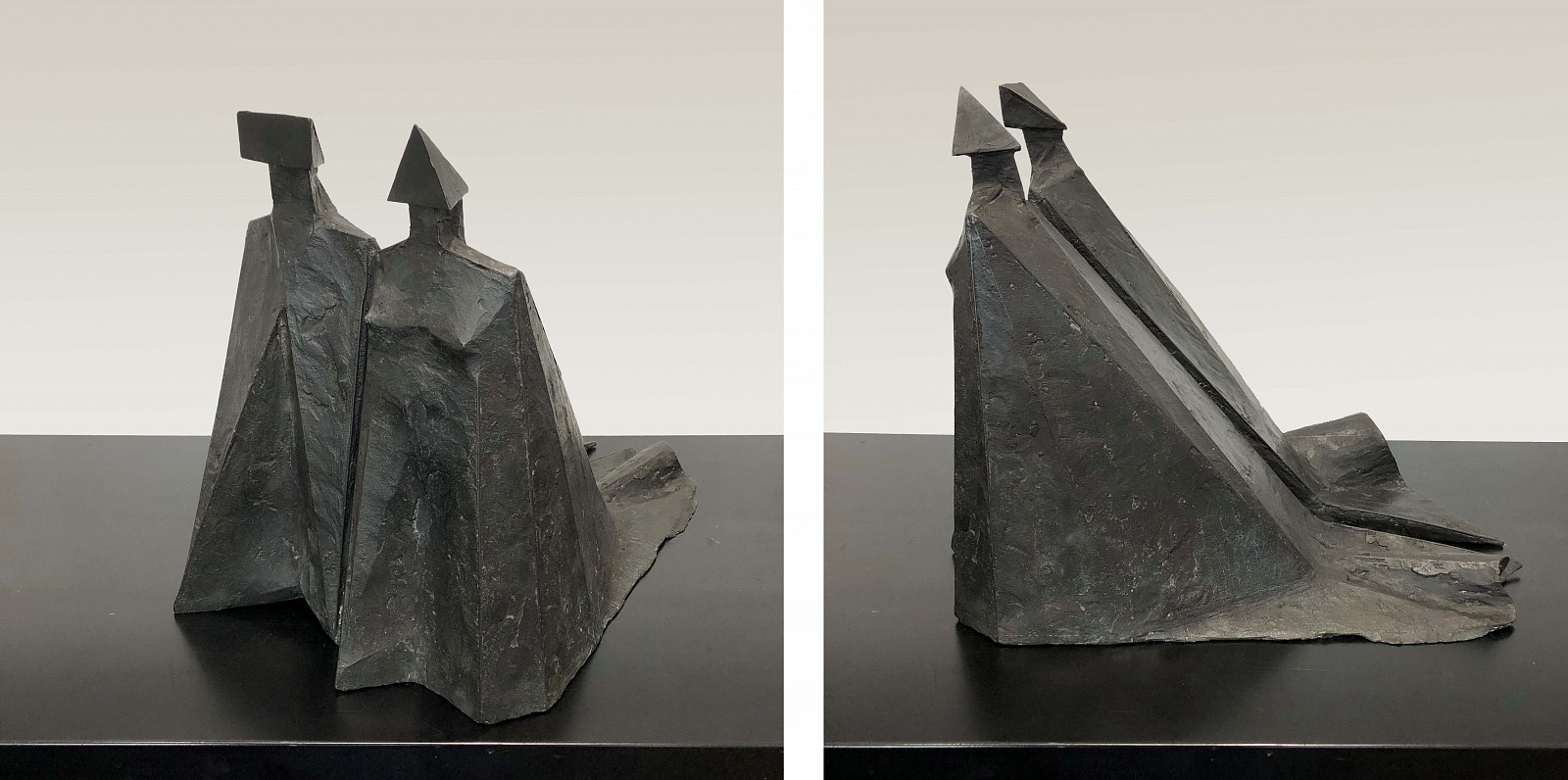 Lynn Chadwick ,   Standing Couple 798  ,  1980     Bronze ,  17 x 15.5 x 22.5 in. Ed. 1/9     CHAD00052