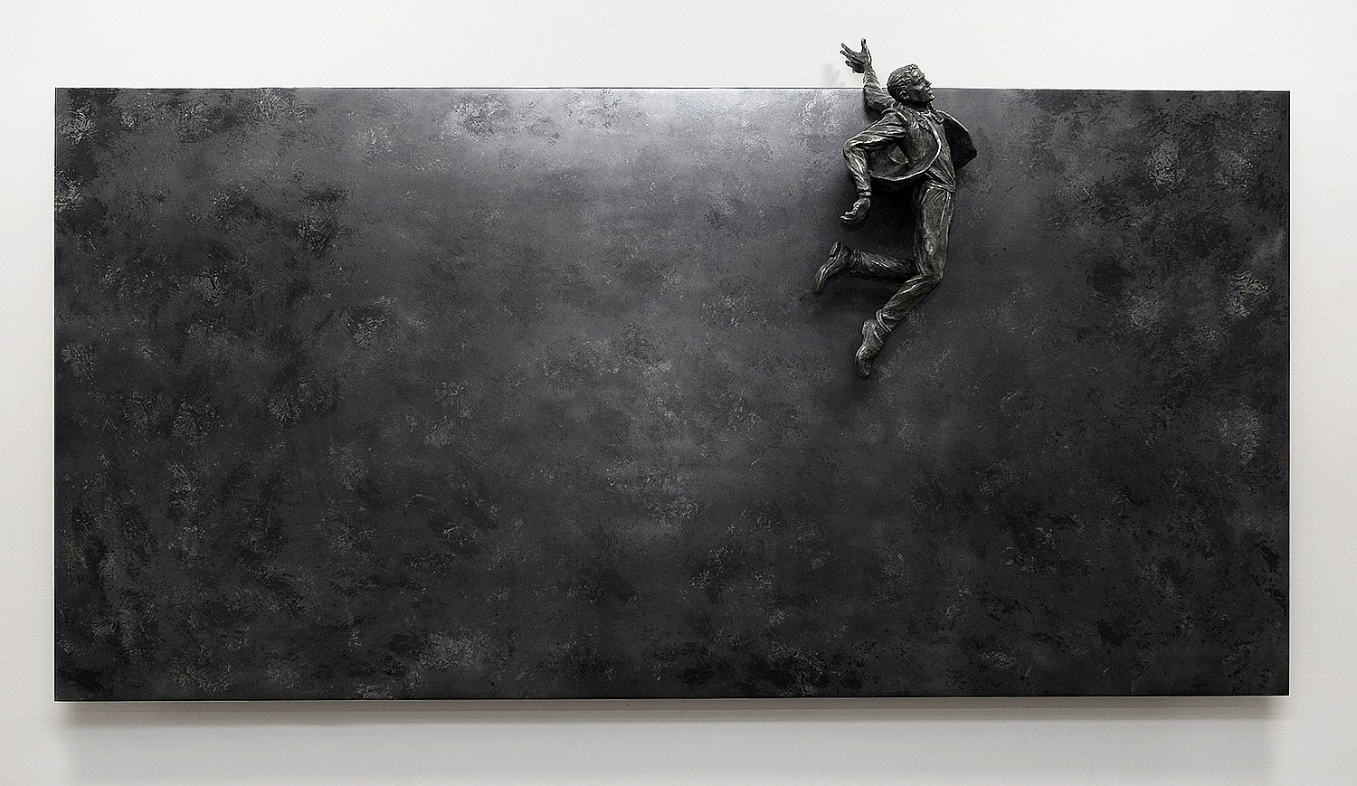 Jim Rennert ,   Leap of Faith  ,  2009     Bronze and steel ,  38 x 60 x 15 in. Ed of 9     RENN00014